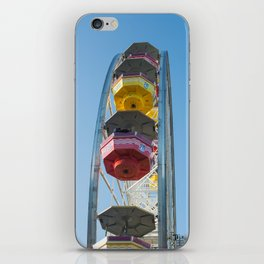 cabins and wheel of Pacific park iPhone Skin