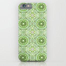 Green Denim Mandalas iPhone Case