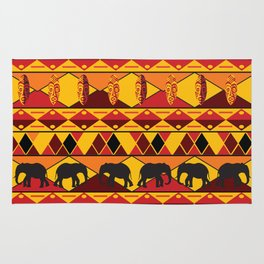 African Tribal Pattern No. 34 Rug