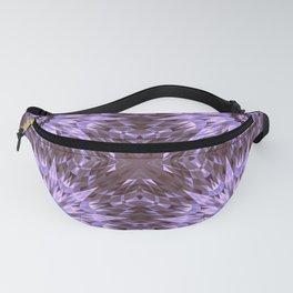 Burgundy Lavender Crysal Mandala Fanny Pack