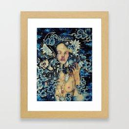 Black Cat Bone Framed Art Print