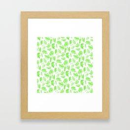 Crystals - Emerald Framed Art Print