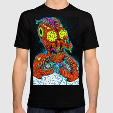MONSTER CRAB Black Mens Fitted Tee X-LARGE