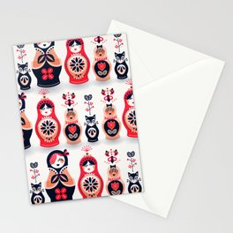 Russian Nesting Dolls – Hot Pink Stationery Cards