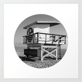 Beach Hut 2 Art Print