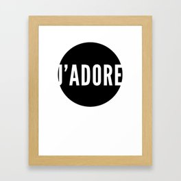jadore Framed Art Print