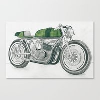 motorbike Canvas Prints featuring MOTORBIKE by EDENLAND