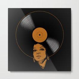 Afrovinyl (Brown) Metal Print