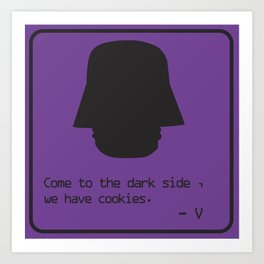 Anything for Cookies Art Print