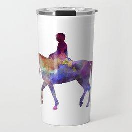 Horse show 02 in watercolor Travel Mug