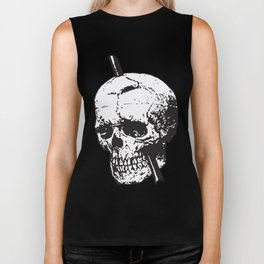 Frontal Lobotomy Skull Of Phineas Gage Vector Isolated Biker Tank