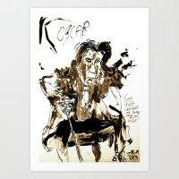 oscar wilde Art Prints featuring Oscar Wilde by Shane R. Murphy
