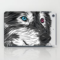 gray iPad Cases featuring Gray wolf by Roland Banrevi