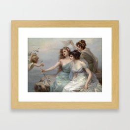 Edouard Bisson The Three Graces, 1899 Framed Art Print