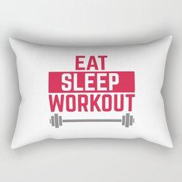 Eat Sleep Workout Gym Quote Rectangular Pillow