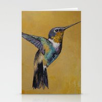 hummingbird Stationery Cards featuring Hummingbird by Michael Creese