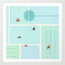 Saturdays At The Pool Art Print