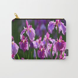 LILAC IRIS GREEN GARDEN  FLOWERS FLORAL Carry-All Pouch