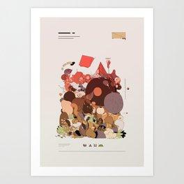 organic infographics Art Print