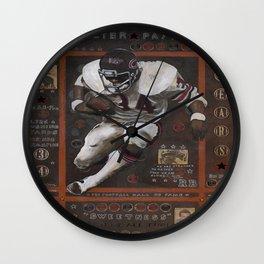 Walter Peyton Wall Clock
