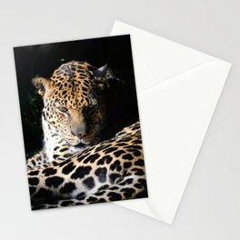 Pensive Leopard Considering Its Options Stationery Cards