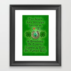 ST PATTYS DAY - 002 Framed Art Print