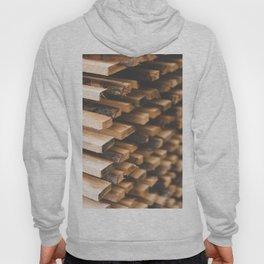 Freshly Cut Wood Stacked for Lumber Air Drying Hoody