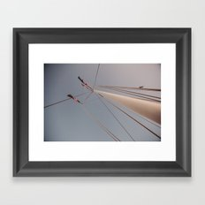 Mast and Moon Framed Art Print