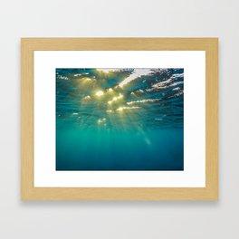 Golden Ripples Framed Art Print