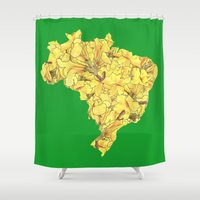 brazil Shower Curtains featuring Brazil by Ursula Rodgers