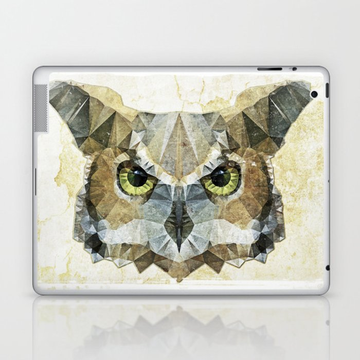 abstract owl Laptop & iPad Skin