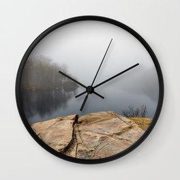 Foggy reflections Wall Clock