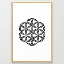 Flower of Life : Kanji Calligraphy Art Framed Art Print