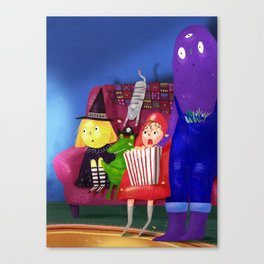 Movie day! Canvas Print