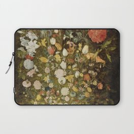 Jan Brueghel (I) (atelier) - Still life with flowers (1600-1630) Laptop Sleeve