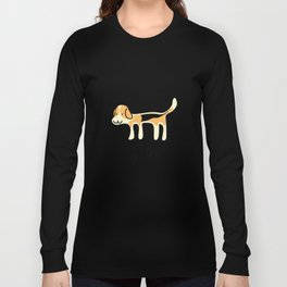 Cute Beagle Dog &joy Doodle Long Sleeve T-shirt