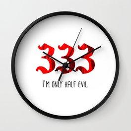 Half Evil Wall Clock
