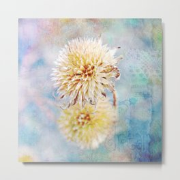 Dreamy Dried Flower Metal Print