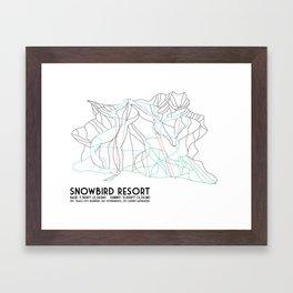 Snowbird, UT - Minimalist Trail Map Framed Art Print