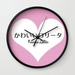 Japanese Kawaii Lolita - Big Heart Wall Clock