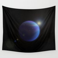 planet Wall Tapestries featuring Planet by Weykman