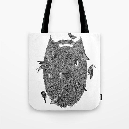 Bird Beard Tote Bag