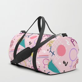 GRL PWR #society6 #pattern #grlpwr Duffle Bag