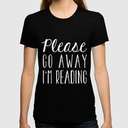 Please Go Away, I'm Reading (Polite Version) - Purple T-shirt