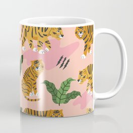 Vintage Tiger Print Coffee Mug