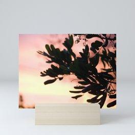 silver lake sunset Mini Art Print