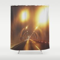 subway Shower Curtains featuring SUBWAY by Yigit C.