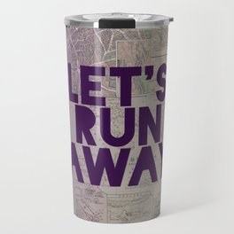Let's Run Away x Map Travel Mug