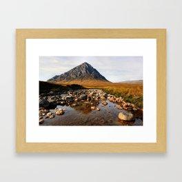 Buchaille Etive Mor Mountan Glencoe Scotland Framed Art Print