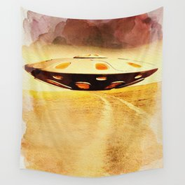 UFO Hill Wall Tapestry